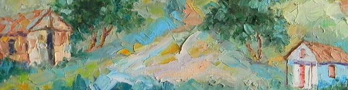"""Rochasse sur Bois, 24"""" x 36"""", 1992"""